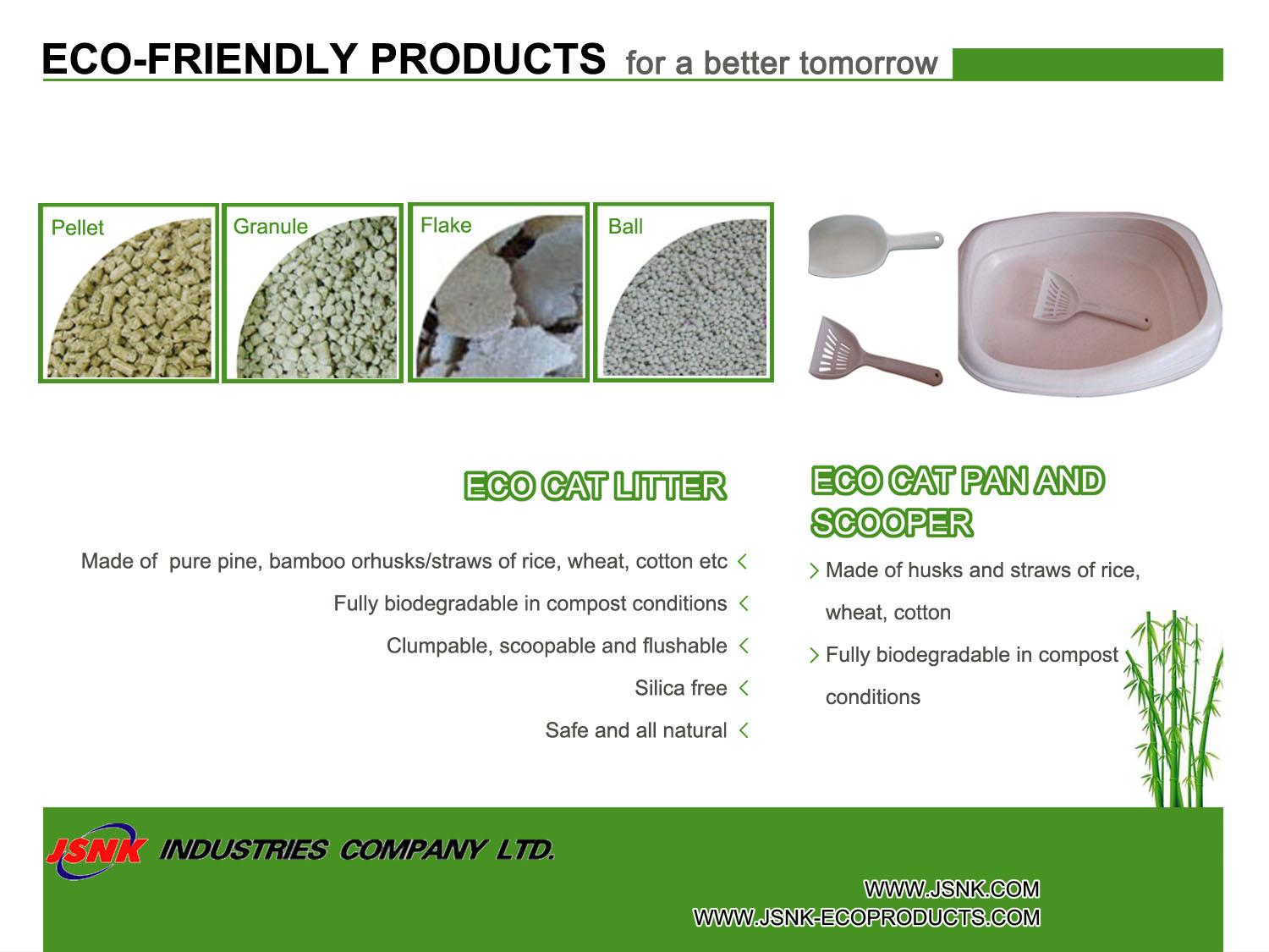 Eco Cat Litter, Eco Cat Pan and Scooper